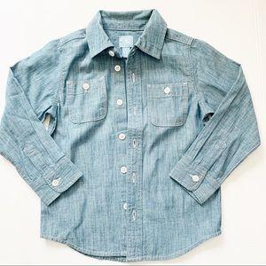 Baby Gap Chambray button down shirt top size 5